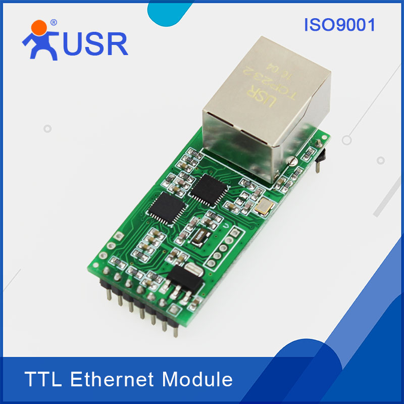 USR-TCP232-T2 Free Shipping TCP IP To Serial Ethernet Modules With UDP DNS DHCP usr gprs232 7s3 direct factory serial uart ttl to gprs gsm module tcp and udp supported