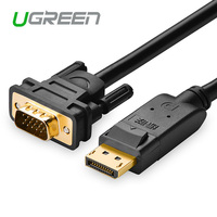 Ugreen DisplayPort To VGA Cable 1080P HD Aluminum Foil Shielding NXPChips Cabo High Premium Displayport Cable