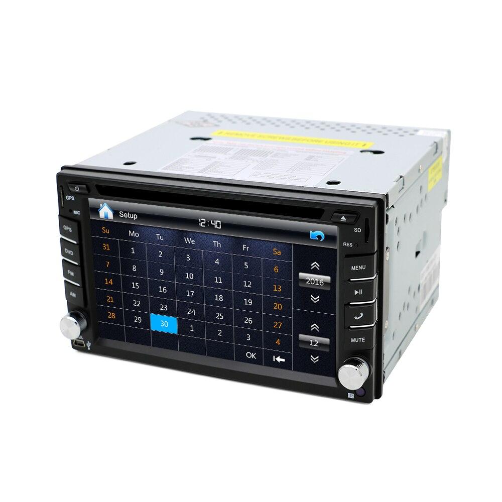 Eunavi Universal Car Radio Double 2 Din Car DVD Player GPS