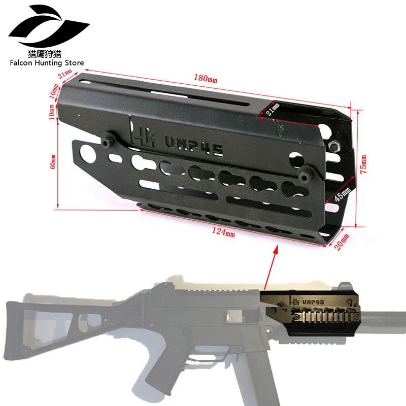 Tactique de Chasse Free Float M-LOK Handguard Picatinny Rail Mince Style 2 pièce Drop-In pour UMP Portée de Fusil de Montage gun Accessoire