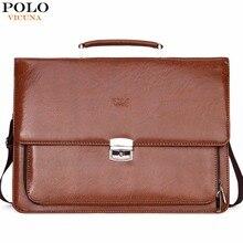 VICUNA POLO Fashion Burglarproof Business Man Bag Brand Office Briefcase Shoulder Bags Mens Handbag portafolios maletin hombre