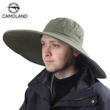 16cm długi, szeroki rondo oddychający kapelusz przeciwsłoneczny Safari kapelusz mężczyźni kobiety Boonie kapelusz lato UV nakładka ochronna turystyka kapelusz wędkarski plaża