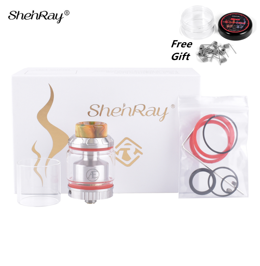 ShenRay Art Elite RTA Electronic Cigarette 2.5/3.5ml 25.5mm Mech Atomizer Tank with Bulb Glass for Vape Box Mods Vaporizer Kit