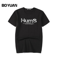 BOYUAN 2018 Summer T Shirt Men Tshirt O Neck Cotton Short Sleeve Letters Print T Shirt