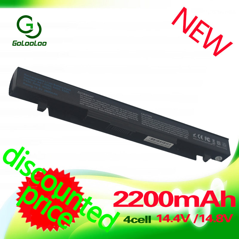 Golooloo 14.4v Laptop battery For ASUS A41-X550A A41-X550 A450 A450C A450CA X450 X450LC X450VC X550 X550C X550Ca R510C x550v jigu laptop battery a41 x550a a41 x550 for asus a450l a450c x550c x550b x550v x550d page 2