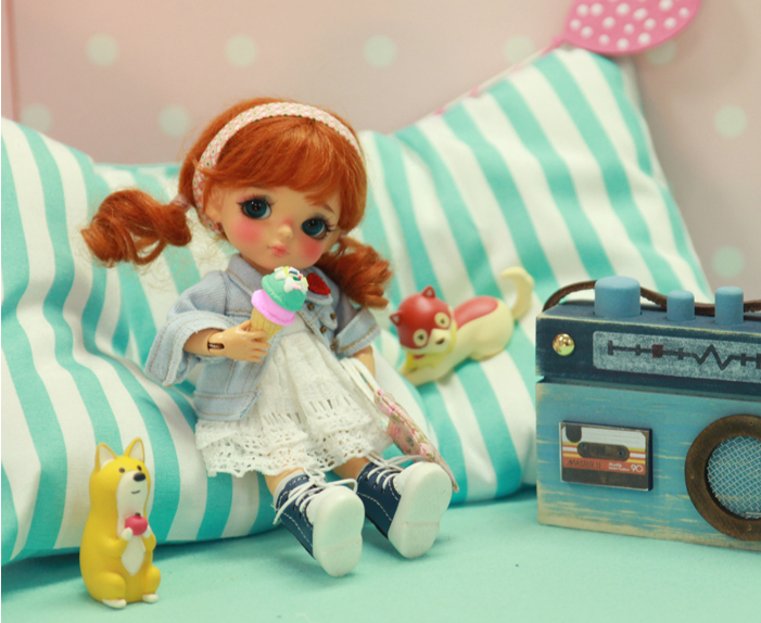 Free shipping 1/8 BJD yellow berry doll-in Dolls from Toys & Hobbies    3