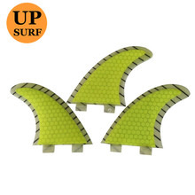 Surf Fin FCS Fibreglass Fins G5 Hot Sale FCS Fins Surf Fin Free Shipping Yellow color thruster