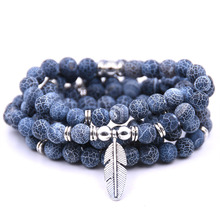 цена Top Design Labradorite Wrap Bracelet Trendy Handmade Men`s 108 Mala Yoga Bracelet or Necklace  Charm Bracelet в интернет-магазинах