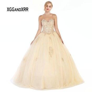 cdb310032 Nuevo vestido de Quinceanera vestidos 2019 cariño fuera del hombro vestidos  traje de bal dulce 16 vestido niñas vestidos fiesta Plus tamaño