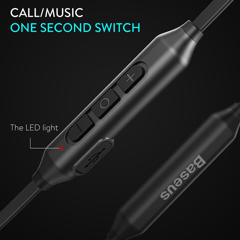 Baseus S06 Wireless Headphone Bluetooth Earphone Fone de ouvido Stereo Headset Casque Neckband Ecouteur Auriculares earpiece 4