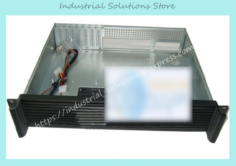 все цены на NEW Ultra-short 2u ros embedded hard drive aluminum panel 2u server computer case онлайн