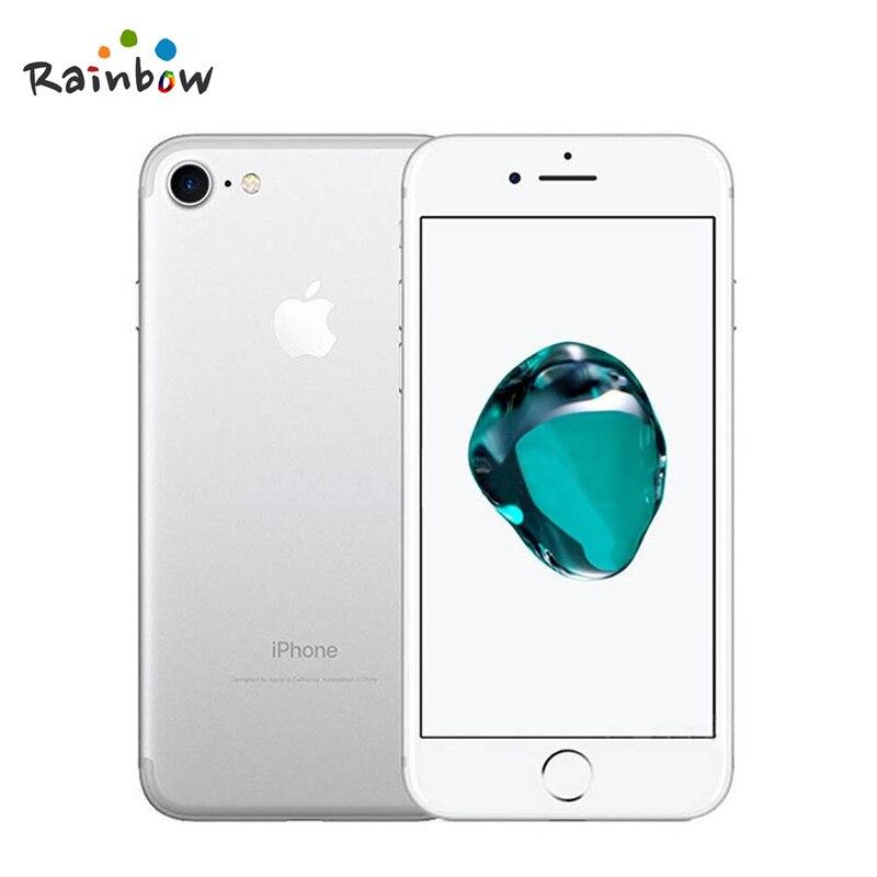Apple iphone 7 original ios 2gb ram, câmera de 12.0mp e vídeo em 4k, 4g lte com id de toque de impressão digital 5