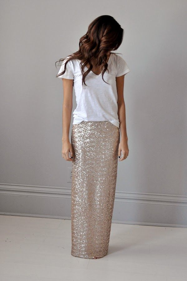 Aliexpress.com : Buy Sequin Skirts Straight Long Skirt Custom Made ...