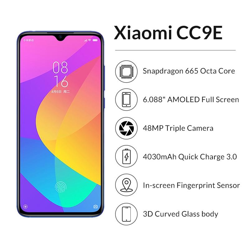 """Image 2 - In stock Xiaomi CC9E 4GB 64GB Snapdragon 665 AMOLED Mobile Phone cc 9e 6.088"""" Octa Core 48MP AI Camera 4030mAh 4G Cellphone-in Cellphones from Cellphones & Telecommunications"""
