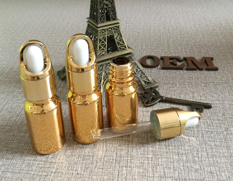 a ouro frasco conta-gotas, garrafa de óleo