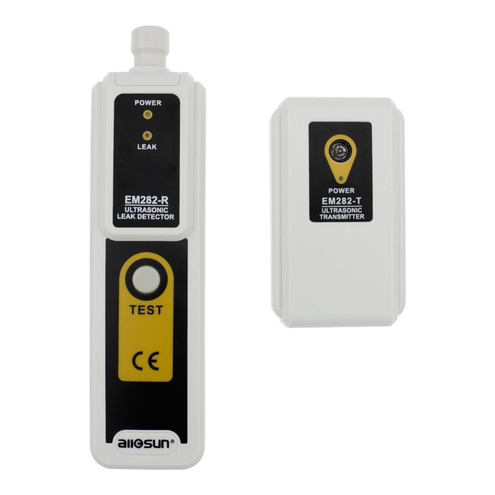 Trasmettitore ad ultrasuoni rilevatore di perdite 40 KHz ultrasuoni rilevatore di fughe di gas rilevamento affidabile Indicatore LED all-sun EM282