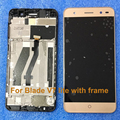 100% New Gold V7 LITE Full LCD DIsplay + Touch Screen For ZTE Blade V7 Lite Digitizer Assembly Original New TP+LCD With Frame