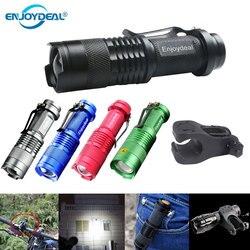 Светодиодный мини-фонарик 2000 лм Q5, светодиодный фонарик с регулируемым зумом AA, водонепроницаемый фонарик для наружного использования с 1/3 ...
