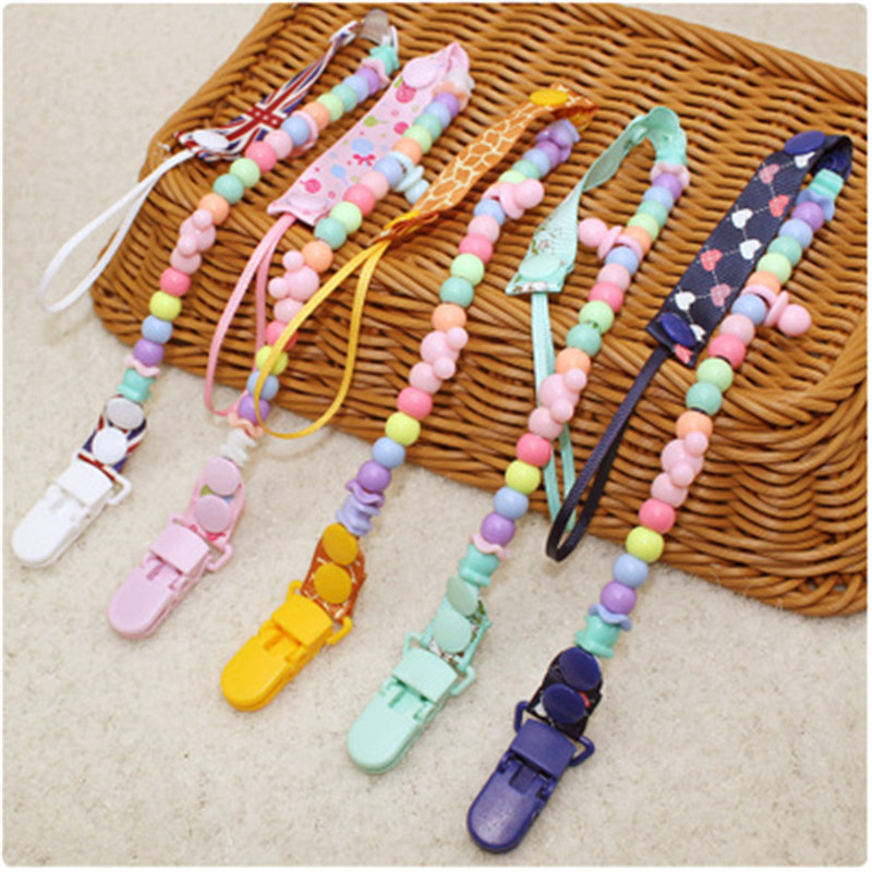 1PC Hot Sales New Baby Pacifier Clip Holders For Nipple Teether Chains For Dummies Plastic Infants Handmake Nipple Clips Holders