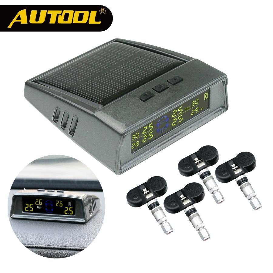 AUTOOL Car TPMS Tire Pressure Monitoring System Wireless Auto Alarm Tool Tyre Pressure Sensor Digital LCD Display With Sensor сувенир значок имена муж евгений 105 41