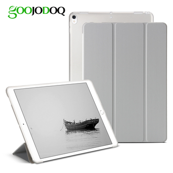 Case For iPad Pro 10.5 2017 Case PU Leather Silicone Soft Back Folio Stand Translucent Smart Cover for iPad 10.5 inch Auto Sleep