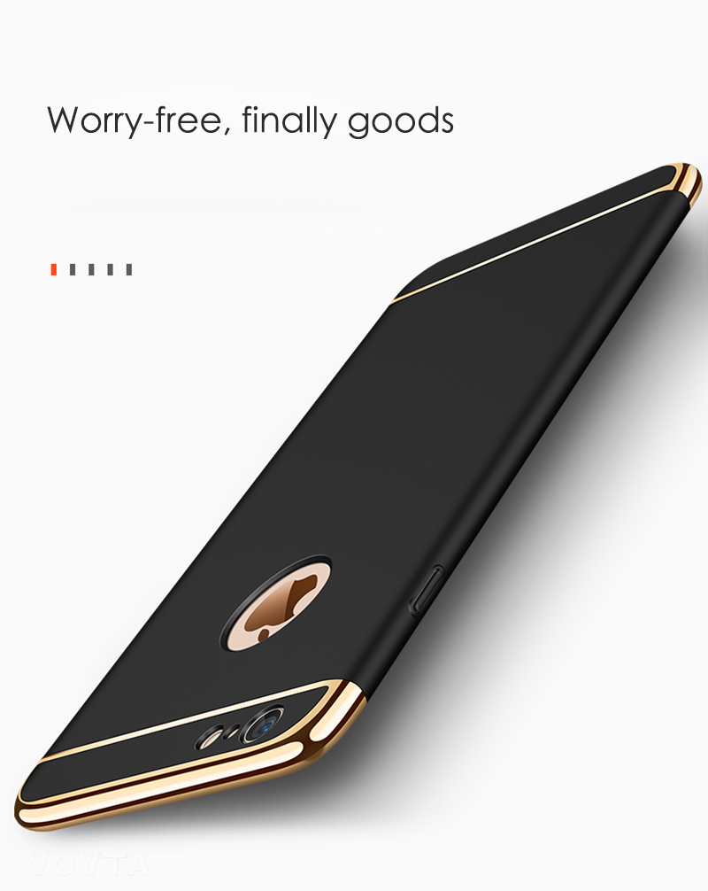 VOVTA Luxury Anti-Knock Cases For iPhone 6 8 7 Plus Case Plating Shockproof Full Cover For iphone 7 6s 8 Plus Phone Case7