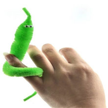 1 pcs of random color Plush Magic Twisty Worm Kids Trick Caterpillar Toys Kids Children magic games Toys(China)