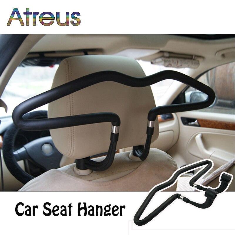 Atreus 1 шт. подголовник автомобиля из нержавеющей стали вешалка для Mazda 6 CX-5 BMW E46 E39 Mini Cooper Audi A4 B6 b8 a3 A5 Ford Fiesta Kuga ...