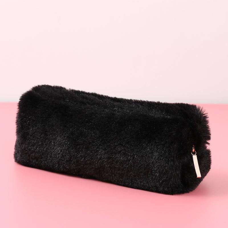 Корейский школьный чехол-карандаш Kawaii, милый плюшевый пенал для девочек и мальчиков, пенал, чехол на молнии, сумочка для косметики, мешочек для канцелярских принадлежностей, школьные принадлежности 5