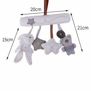 Image 4 - погремушки игрушки для коляски Детская плюшевая погремушка, игрушки на коляску, подвесная кровать, коляска кроватка, Мягкая Милая Музыкальная погремушка с кроликом, развивающие , кровать для новорожденных