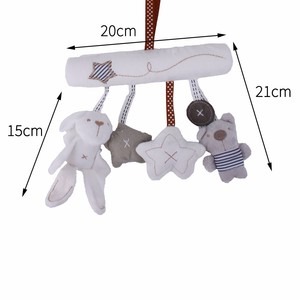 Image 4 - Baby Rattles Toys Plush Baby Toys 0 12 Months Soft Animal Musical Rattle Stroller Toys for Baby Mobile Newborn Bed Cart
