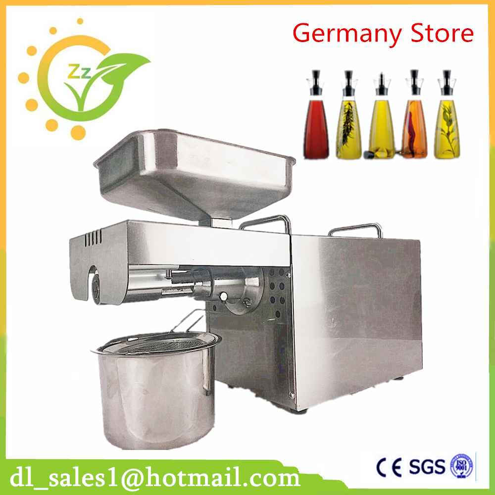 Brand Mini Oil pressing Machine Soybean Home Use Oil Pressers Cold Peanuts Electric Stainless Steel Oil Press Machine home use automatic oil press machine electric nuts seeds oil pressure stainless steel oil extraction hot and cold pressing machi
