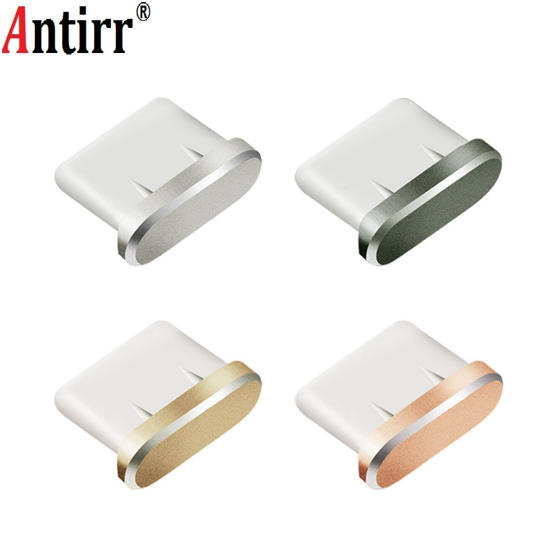 Type-c Dust Plug Aluminium Alloy Type C Jack Mobile Phone USB-C Charger Port Stopple For Xiaomi Mi5 Mi6 Huawei P9 P10 LETV
