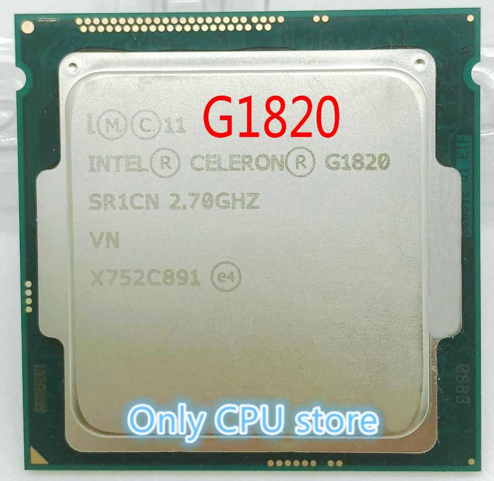 Free shipping Original Celeron G1820 2700 MHz 2.7 GHz 2M Cache Socket LGA 1150 Dual Core CPU Processor SR1CN scrattered pieces