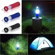PANYUE New 3 Colors 3W Tent Camping Lantern Light Hiking LED Flashlight Torch Outdoor Lamp Lightweight Portable