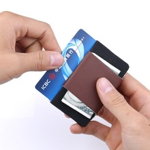Super Slim Soft Wallet 100% Genuine Leather Mini Credit Card Wallet Purse Card Holders Men Wallet Thin Small Fashion Portable super thin soft 100
