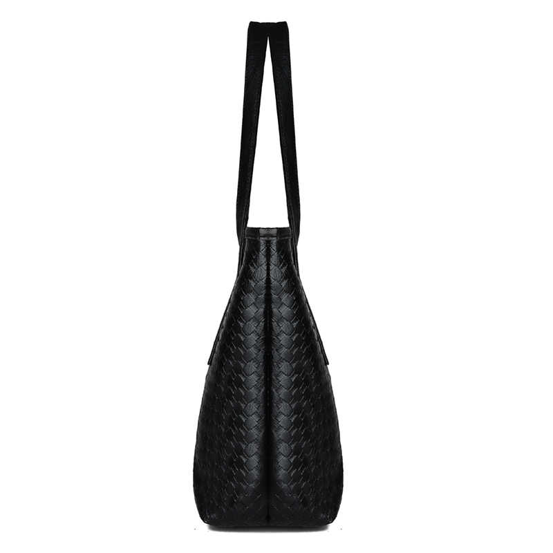 Простые Модные женские сумки на плечо, одноцветная Большая вместительная сумка, женские Сумки из искусственной кожи, черные сумки на плечо, Bolsa Feminina