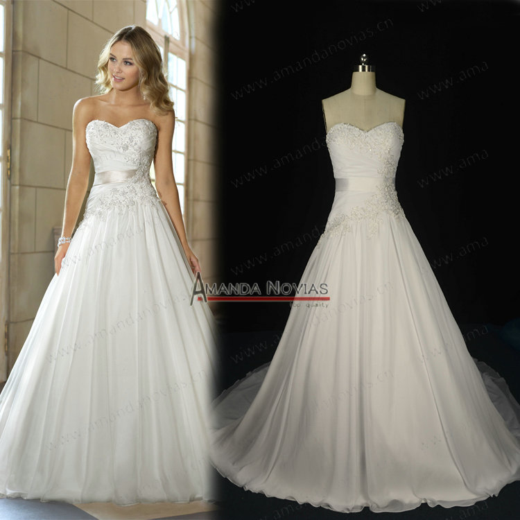 Popular wedding dress sweetheart neckline lace overlay buy for Lace overlay top for wedding dress