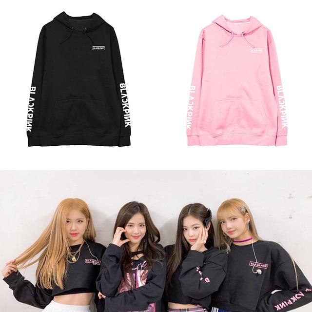 K-pop BLACKPINK sweatshirt Jin Zhixiu Zhini Pu Caiying LISA concert around the same paragraph hoodie