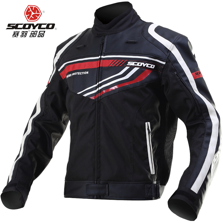 2015 New SCOYCO motorcycle jersey jacket JK37 leather racing suit jackets motorbike clothing DROP Includes protective gear