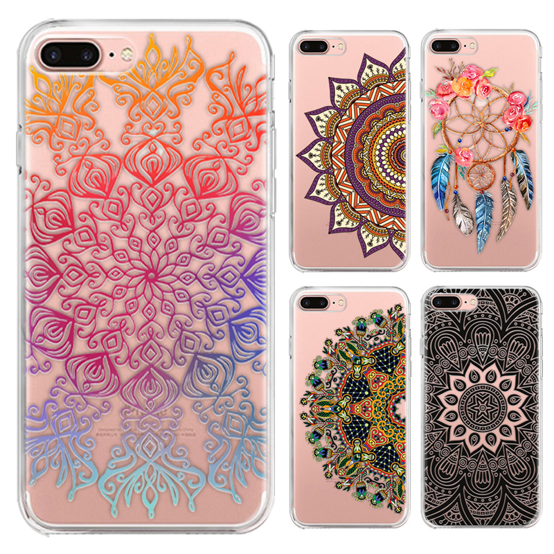 100pcs Mandala Series Phone Case For LG X Cam K580 5.2-inch Cute Cartoon High Quality TPU Soft Silicone Back Cover Shell