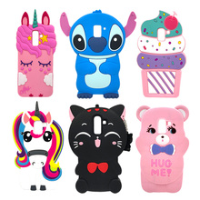 For Samsung Galaxy J8 2018 Case 3D Cute Cartoon Animal Cat Ear Unicorn Stitch Pig Silicone J810 J810F