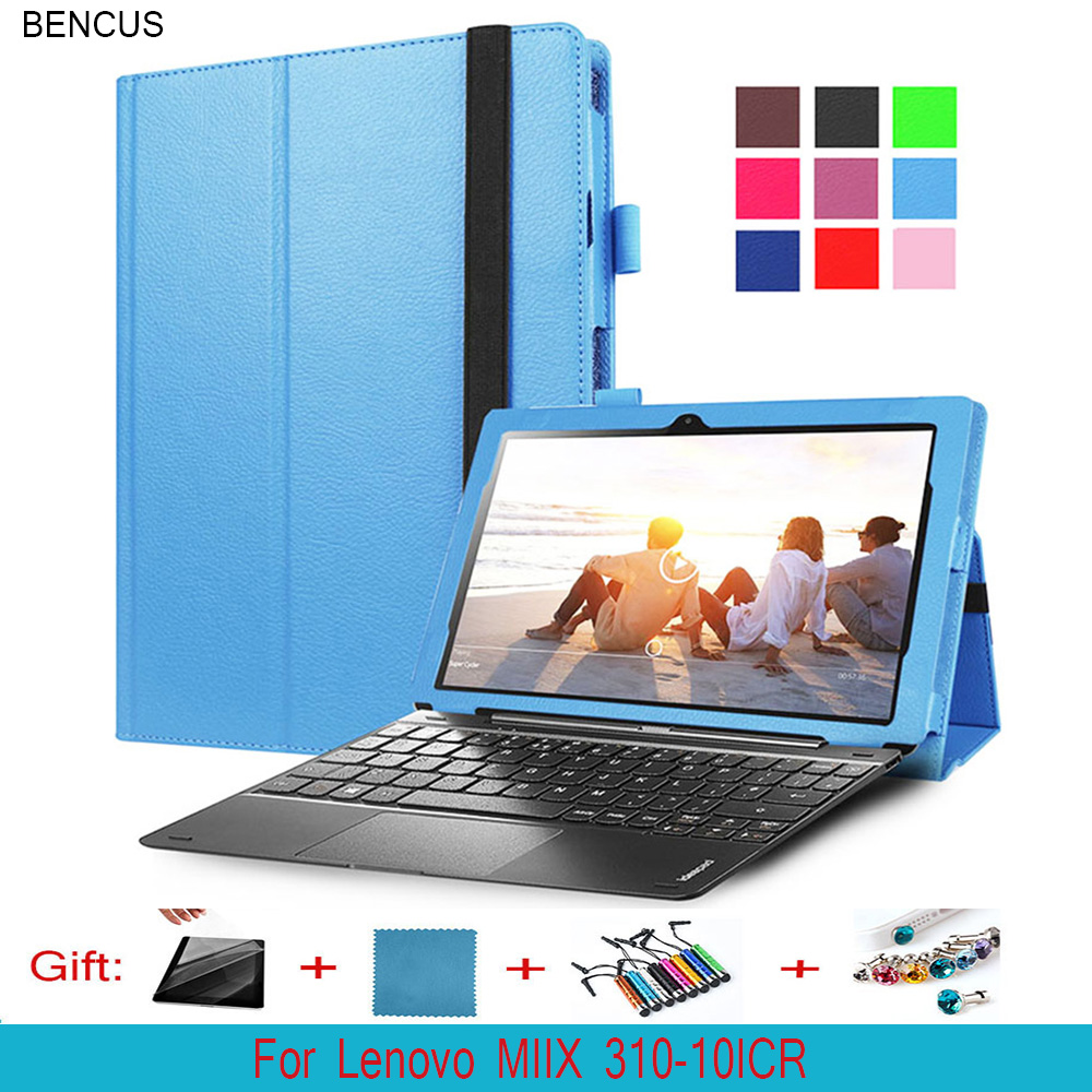 BENCUS PU Folio Magnetic Stand Leather Case Cover( With Keyboard Case ) For Lenovo ideapad MIIX 310-10ICR MIIX310 10.1 Tablet PC