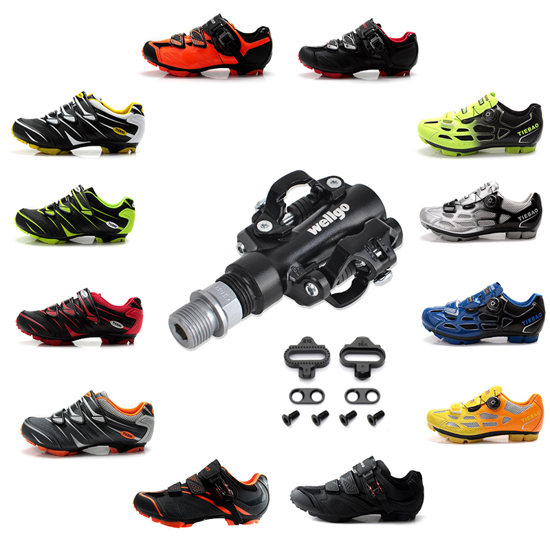 TIEBAO sapatilha ciclismo mtb cycling shoes SPD Pedals self-locking breathable mountain bike Athletic bicycle riding