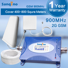 Sanqino Single Band GSM 900Mhz Cellular Cell Cellphone Sign Repeater+ 50ft Cable+ Out of doors Antenna + Indoor Antenna