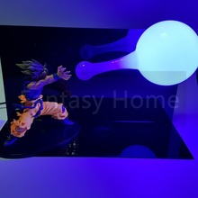Son Gokou Kamehameha Super SaiyanLamp +Bulb+Base
