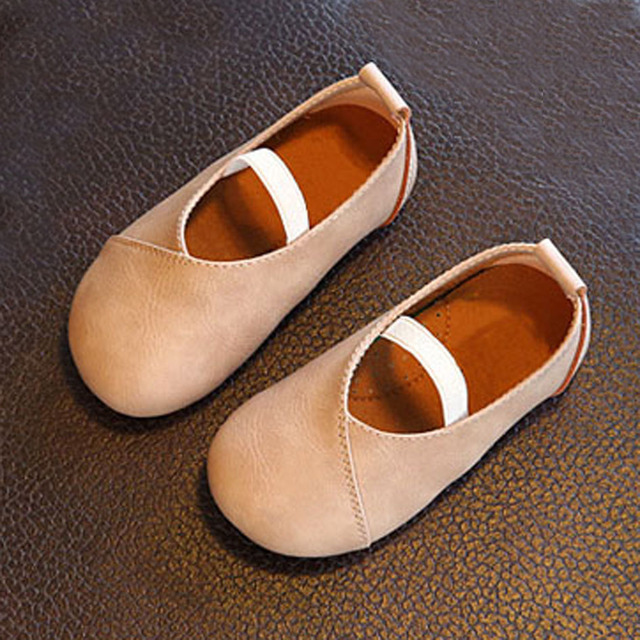 European And American Style Baby Girls Shoes Elastic Band Toddlers Girl Spring Shoes Luxury Children Princess Leather Shoes