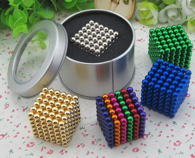 216 unids 5mm Imanes de Neodimio Bolas Magnéticas Puzzle Cubo Esfera Cubo Mágico Magnética DIY Bolas Juguetes