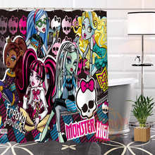 Best Nice Custom Monster High Shower Curtain Bath Curtain Waterproof Fabric Bathroom MORE SIZE LQ#21(China)