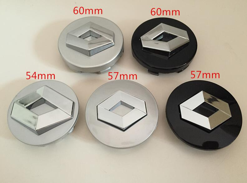 4pcs renault 54mm 57mm 60mm wheel center hub caps clio megane laguna scenic wheel badge covers. Black Bedroom Furniture Sets. Home Design Ideas
